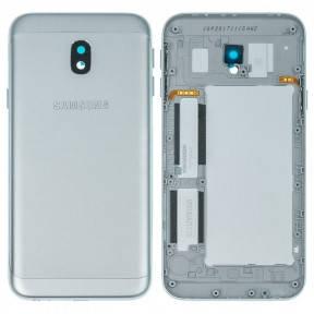 Задняя крышка Samsung J330F Galaxy J3 (2017) серебристая, фото 2