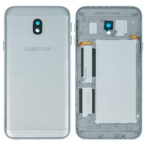 Задняя крышка Samsung J330F Galaxy J3 (2017) серебристая