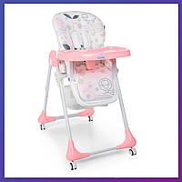 Стульчик для кормления Bambi M 3233 Lamb Light Pink Бемби детский стул   Стілець для годування Бембі