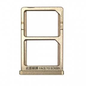Держатель Sim-карты Xiaomi Mi5s золотистый, фото 2