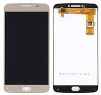 Дисплей Motorola XT1770 Moto E4 Plus, XT1771, XT1775 MediaTek с сенсором (тачскрином) золотистый