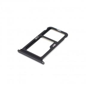Держатель Sim-карты и карты памяти Huawei Mate 10 (ALP-L09, ALP-L29) черный