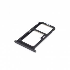 Держатель Sim-карты и карты памяти Huawei Mate 10 (ALP-L09, ALP-L29) черный, фото 2