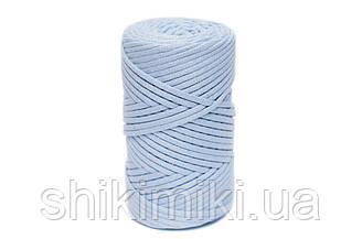 Трикотажный хлопковый шнур Cotton Filled 5 мм, цвет Голубой