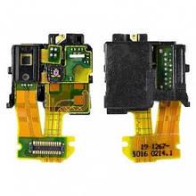 Разъем наушников Sony C6602 Xperia Z L36h, C6603 L36i, C6606 L36a с датчиком приближения, микрофоном, на шлейфе