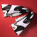 Кросівки Nike Zoom 2k White Black, фото 3