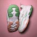 Кросівки Fila Ray White Pink Green, фото 4