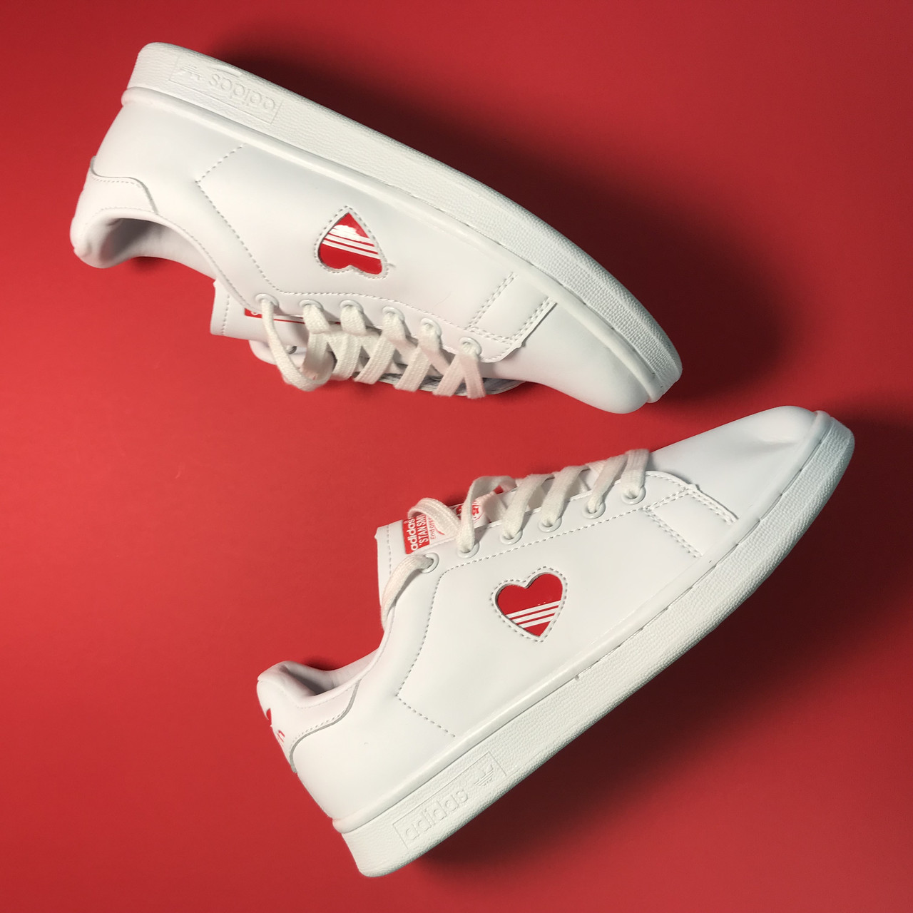 Кросівки Adidas Stan Smith White Red Heart