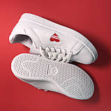 Кросівки Adidas Stan Smith White Red Heart, фото 5