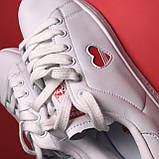 Кросівки Adidas Stan Smith White Red Heart, фото 8