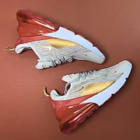 Кроссовки Nike Air Max 270 Beige Red, фото 1