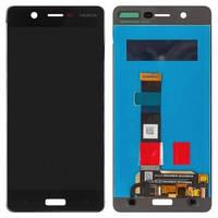 Дисплей Nokia 5 TA-1024, Dual Sim TA-1053 с сенсором (тачскрином) черный