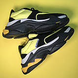 Кросівки Balenciaga Triple S V2 Black Yellow, фото 4