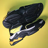 Кросівки Balenciaga Triple S V2 Black Yellow, фото 5