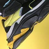 Кросівки Balenciaga Triple S V2 Black Yellow, фото 6