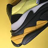 Кросівки Balenciaga Triple S V2 Black Yellow, фото 7