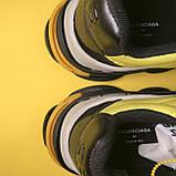 Кросівки Balenciaga Triple S V2 Black Yellow, фото 10