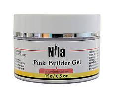 Nila Гель строительный Pink Builder Gel 15 г.