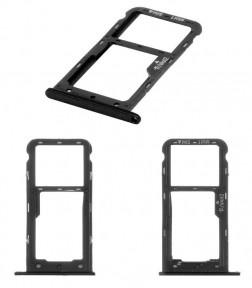 Держатель Sim-карты и карты памяти Huawei Nova Lite (2017) SLA-L22, Y6 Pro 2017 (SLA-L02SLA-L03), P9 Lite mini, Enjoy 7 черный