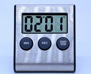 Таймер кухонный цифровой Kronos JS-109 с магнитом нержавеющая сталь (acf_00480)