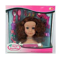Кукла 913-D (12шт) голова для причесок27см, фен, плойка, расческа, украшения, в кор-ке, 39-39,5-16см