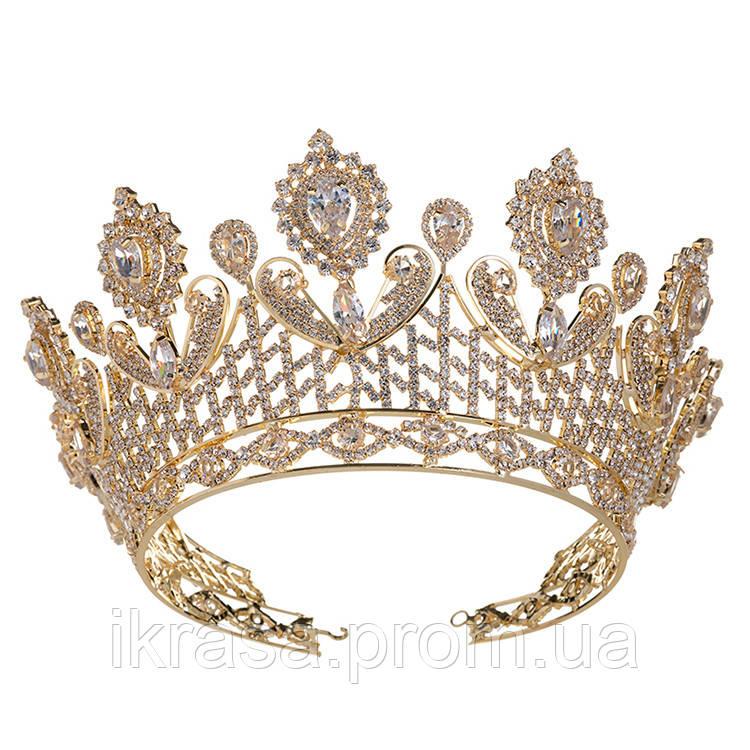 VIP діадема з ювелірними діамантами цирконами (8см)