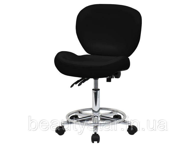 Мобільний стілець зі спинкою для майстрів (2 регулювання) модель 881-2