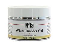 Nila Гель строительный для наращивания ногтей White Builder Gel 15 г.