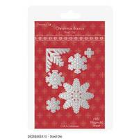 Ножи новогодние Christmas Basics - Snowflakes, DovecraftDCDIE003X15