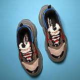 Кросівки Balenciaga Triple S Grey Red Blue, фото 2