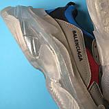 Кросівки Balenciaga Triple S Grey Red Blue, фото 6
