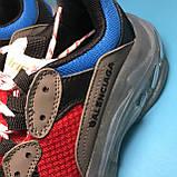 Кросівки Balenciaga Triple S Grey Red Blue, фото 9