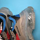Кросівки Balenciaga Triple S Grey Red Blue, фото 10