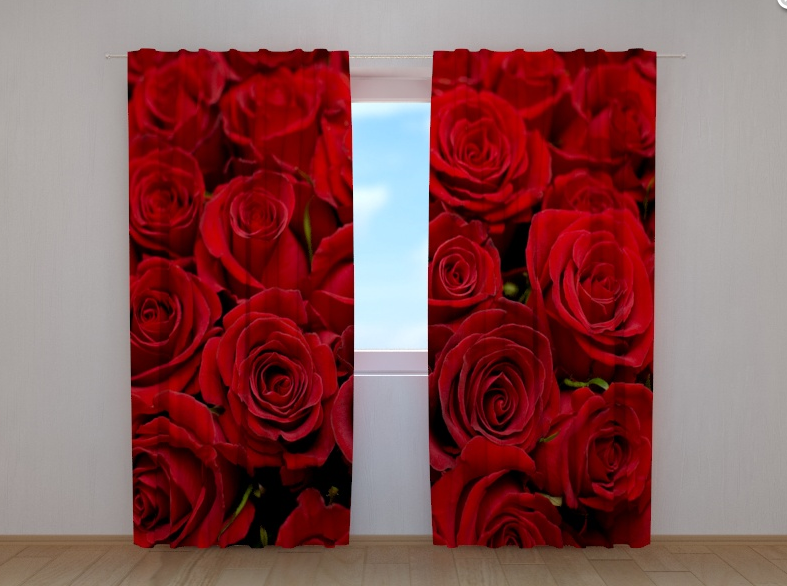 """Фотошторы """"Розы 2"""" 250 х 260 см"""