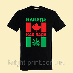 "Чоловіча футболка з принтом ""Канада как нада"""