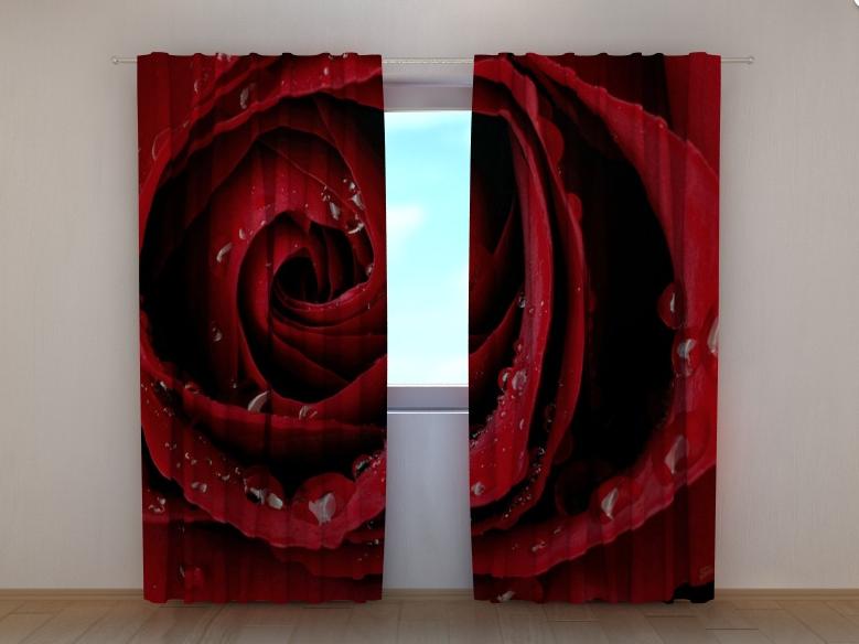 """Фотошторы """"Красная роза"""" 250 х 260 см"""