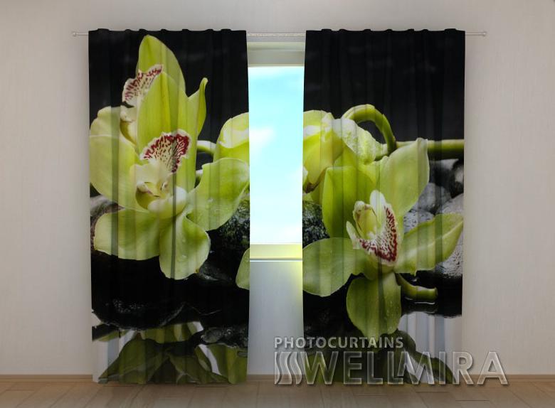 """Фотошторы """"Лимонные орхидеи"""" 250 х 260 см"""