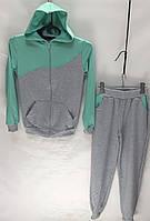 Спортивный костюм детский оптом 6-7-8-9-10 лет мята