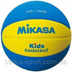 М'яч баскетбольний для дітей Mikasa SB5-YBL - розмір 5