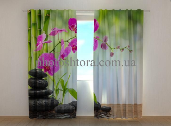 """Фотошторы """"Малинові орхідеї"""" 250 х 260 см"""