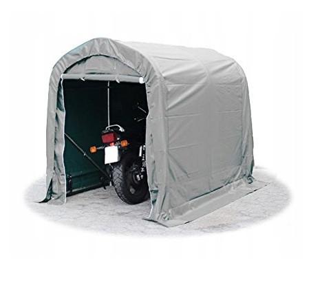 Тентовый гараж  для мотоцикла ПВХ 1,6 x 2,4m Зеленый /Серый