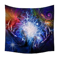 Психоделик. Радужное Разноцветное  пляжное полотенце, покрывало, Мандала одеяло микрофибра, коврик , простынь