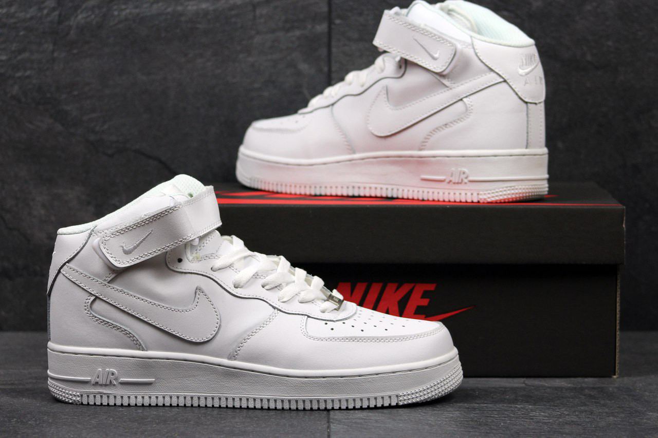 Мужские кроссовки Nike Air Force High White