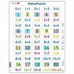 Пазл  Larsen Мемо Сложение чисел 0-20, серия Макси GP3