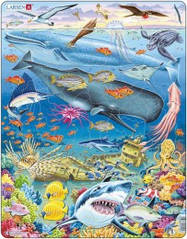 Пазл Larsen рамка-вкладыш Китовый риф серия Макси (FH20)