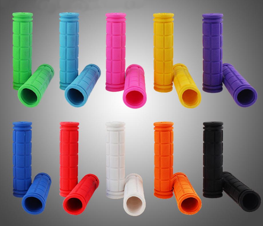 Грипсы / ручки вело силиконовые лёгкие мягкие с рифлением / цепкой накаткой (внутренний диаметр 22,2 мм)