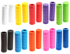 Грипсы / ручки вело силиконовые лёгкие мягкие с рифлением / цепкой накаткой (внутренний диаметр 22,2 мм), фото 2