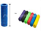 Грипсы / ручки вело силиконовые лёгкие мягкие с рифлением / цепкой накаткой (внутренний диаметр 22,2 мм), фото 4