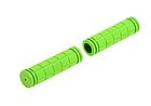 Грипсы / ручки вело силиконовые лёгкие мягкие с рифлением / цепкой накаткой (внутренний диаметр 22,2 мм), фото 6