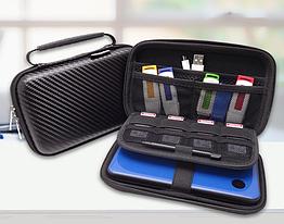 Органайзер / кейс / бокс жорсткий GUANHE GH1808 (180*120) з ручкою, для Nintendo New3DS XL / проводів / HDD